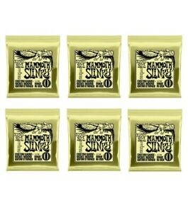Ernie Ball Mammoth Slinky Nickel Wound Electric Guitar Strings - 12-62 6 Pack