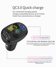 Wireless Car Kit Fm Transmitter Mp3 Player Radio Adapter with Qc3.0 Usb Charger