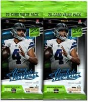 (2 Pack) 2020 Panini Absolute Football Fat Pack *40 Cards Each*