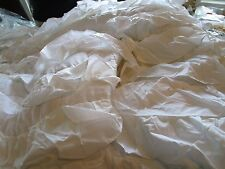 Pottery Barn Teen Ruffilicious twin white quilt + 1 standard sham New
