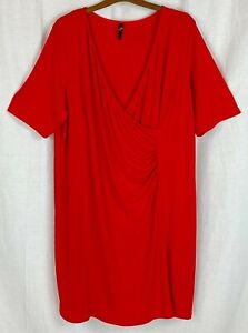 EVANS Womens Red Party Dress Size 26/28