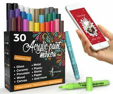 Acrylic Paint Pens – 30 Acrylic Paint Markers Medium Tip 2mm