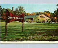 Vintage Postcard Campus Entrance Davis Elkins College West Virginia Posted