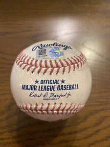 Nathan Eovaldi 2020 Game Used Pitched Baseball - 8/20/20 - Boston Red Sox - MLB
