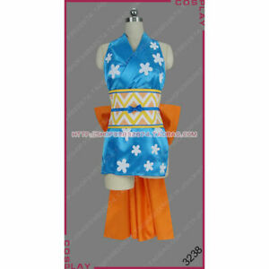 One Piece Wano Country Navigator Cat Burglar Nami Dress Cosplay Costume @