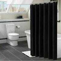 Simple Waterproof Fabric Bathroom Shower Curtain Waterproof+Hooks Home Decor