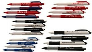 Football Club Pens Official Ballpoint Arsenal Liverpool Push Down Back to School