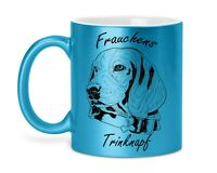 Kaffeetasse Tasse Kaffeebecher Lila Glitzer Yorkshire Terrier Hund Spruch