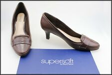 DIANA FERRARI SUPERSOFT WOMEN'S BROWN CLASSIC DRESS HEELS SHOES SIZE 10