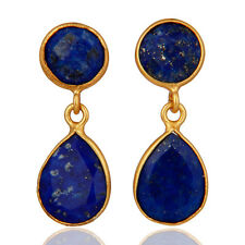 Sterling 925 Silver Sodalite Gemstone Dangle Earrings Handmade Jewelry