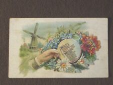 HIDDEN NAME VICTORIAN CALLING CARD - WINDMILL - HERMANSTORP