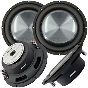 """2x Clarion WF2520D 2000W Max 10"""" Dual 4-Ohm Voice Coil Shallow-Mount Subwoofer"""