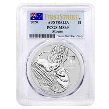2020 1 oz Silver Lunar Year of The Mouse / Rat Australia Perth Mint PCGS MS 69