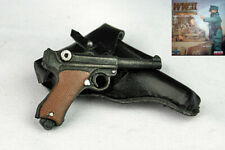 1/6 SCALE DID GERMAN WWII - PISTOL LUGER W/ LEATHER HOLSTER - TIM BECKER PANZER
