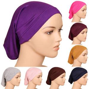 Muslim Under Scarf Cotton Inner Ninja Cap Head Cover Hijab Women Cap Headwear