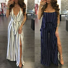 Women's Bodycon Romper Cocktail Party Bandage Jumpsuit Playsuit Long Maxi Dress