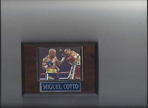 MIGUEL COTTO PLAQUE BOXING CHAMPION