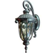 Hailee 3-Light Outdoor Wall Lighting Oil-Rubbed Bronze Lantern Sconce E12 Metal
