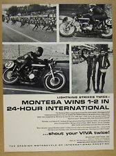 1967 Montesa 250 Impala Special motorcycle 24-Hour race win vintage print Ad
