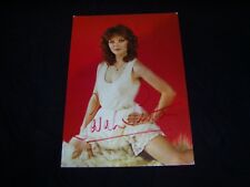 "SARAH SUTTON as ""NYSSA"" Genuine Autographed DOCTOR WHO postcard 1980s"