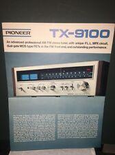 Pioneer TX-9100 Tuner,Dealer Brochure Vintage.