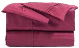 NEW 100% Egyptian Cotton Satin Weave Comfort 4 Pc Bed Sheet Set Deep Pocket King