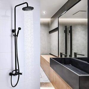 Outdoor Shower Fixture Shower Faucet Combo Set Rainfall Hand Spray Dual Function