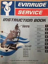 Service book Johnson Evinrude Outboard 50 hp repair manual Workshop 1975