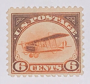 Travelstamps:  1918 US Stamps Scott #C1 Airmail Mint NG Curtiss Jenny ERROR MNG