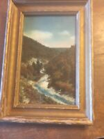 """Charles Sawyer Cumberland  MD """"Lovers Leap""""  Signed  Hand Color Photo"""