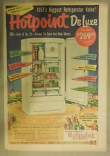 """Hotpoint Ranges and Refrigerators Ad: """"Deluxe"""" Refrigerator from 1951"""