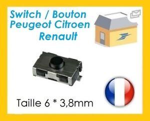 Switch bouton clé Peugeot 106 206 306 307 406 Citroen C3 C5 envoi gratuit ⭐⭐⭐