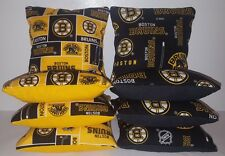 SET OF 8 ALL WEATHER BRUINS CORNHOLE BEAN BAGS ***FREE SHIPPING***