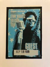 Tommy Hilfiger Lenny Kravitz Freedom Tour Concert Guest Vip Pass 9/18/99