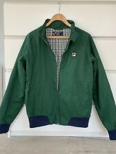 Genuine Fila Mens Green Bomber Jacket- Size Small Great Condition