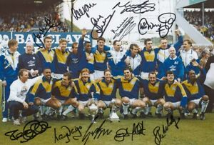 AUTOGRAPHED LEEDS UNITED 12x8 PHOTO 1992 : FIRST DIVISION WINNERS (209)