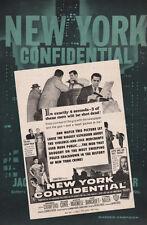 NEW YORK CONFIDENTIAL pressbook FILM NOIR Marilyn Maxwell Broderick Crawford