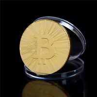 1x Gold-plated FIRST BITCOIN ATM Commemorative Coin Collection Gift TDO