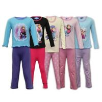 Pijama Niña Infantil Set Frozen Disney Pijama Top Pantalones Algodón NUEVO