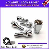 Locking Wheel Bolts M12x1.25 Nuts For Ford Ka MK2 (2009-16)
