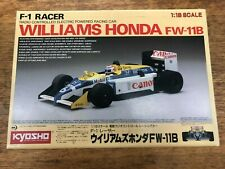 Vintage Kyosho F1 Racer 1/18 Williams Honda FW-11B RC Formula One 1