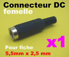 949F/# Prise femelle alimentation 2,5 x 5,5mm DC 1pc