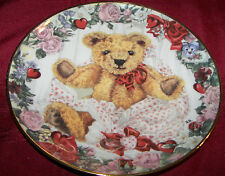 Franklin Mint Heirloom A Valentine For Teddy Limited Edition Collector Plate 8""