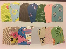 x15 Assorted Large GIFT TAGS PAPER PUNCH/ PUNCHIES - Craft/scrapbooking
