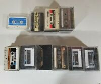 33 Maxell 90 Audio Cassettes Tapes pre-recorded for Blank. 12 Misc. 1 cleaner