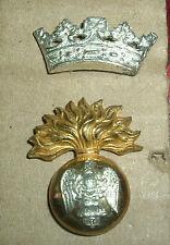 CAP BADGES-ORIGINAL VICTORIAN ROYAL IRISH FUSILIERS OFFICERS SILVER & GILT