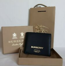 Burberry Bifold Wallet New 100% Authentic Leather Black RRP 300$ Big Discount