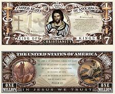 Le CHRISTIANISME - JESUS Billet DOLLAR US! Collection Million Religion Psaume 23