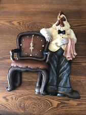 Gentleman Rooster Clock - Resin Desk Or Wall Clock Butler Chicken Working