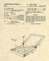 Official Pizza US Patent Art Print- Vintage Pizza Box Table Pizzeria Thrower 118